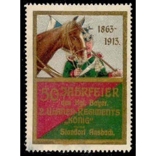 Germany 1913 2nd Royal Bavarian Lancers Poster Stamp