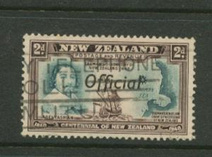 New Zealand SG O144 - Official Optd  Fine Used