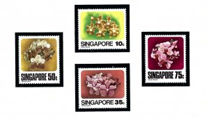 Singapore 319-22 MNH 1979 Orchids