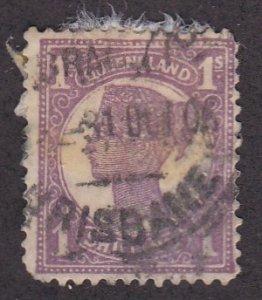 Queensland # 121, Queen Victoria, Used, 1/3 Cat.