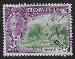 DOMINICA SC# 125  FVF/U 1951