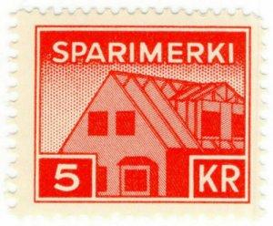 (I.B) Iceland Revenue : Savings Stamp 5Kr (Sparimerki)