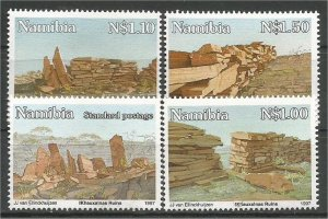 NAMIBIA, 1997, MNH Complete set, Khauxa!nas Ruins Scott 816-819
