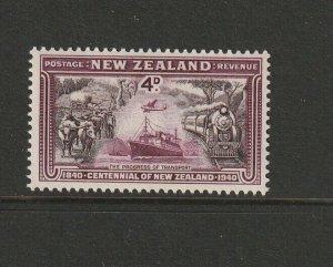 New Zealand 1940 Centennial 4d UM/MNH SG 619