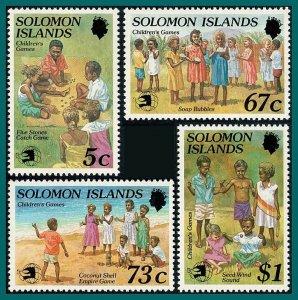 Solomon Islands 1989 Childrens Games, Stamp Expo, MNH #648-651,SG657-SG660