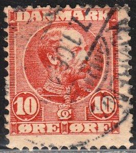 Denmark 62, 10o King Christian IX. Used. F-VF. (236)