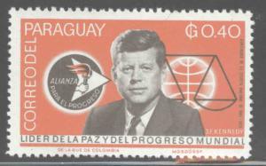 Paraguay Scott 890 MH* JFK stamp