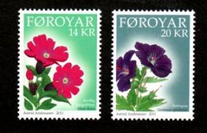 Faroe Islands 562-563 Mint NH MNH Mountain Flowers!
