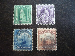 Stamps - Cuba - Scott# 227,229-231 - Used Partial Set of 4 Stamps