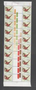 Australian Stamps Mint 1979 2c Crimson Finch Gutter strip Block 20 MUH Scott 714