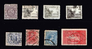 SPAIN STAMP OLD USED AND UNUSED STAMPS COLLECTION LOT #M1