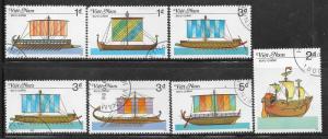 Vietnam Used 1686-92 Sailing Ships