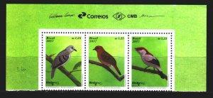Brazil. 2017. 4478-80. Birds, fauna. MNH.