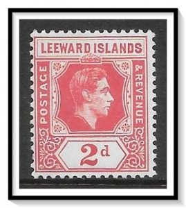 Leeward Islands #123 KG VI MH