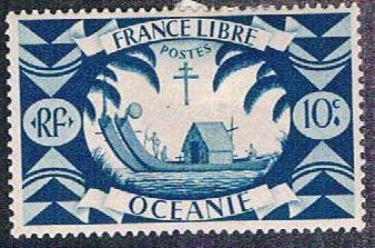 French Polynesia 137 MLH Double Canoe (BP4616)