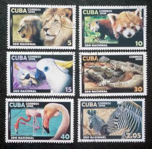 CUBA Sc# 4865-4871 ZOO ANIMALS wild African CPL SET of 6  2008  used / cancelled
