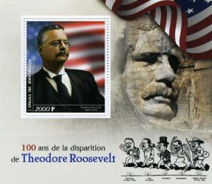Congo 2018 THEODORE ROOSEVELT American US President s/s Perforated Mint (NH)