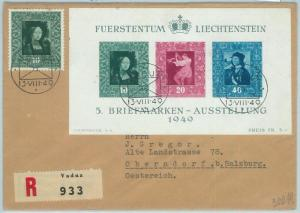 66806 - LIECHTENSTEIN  - Postal History - Michel BF 8 on FDC  COVER  1949