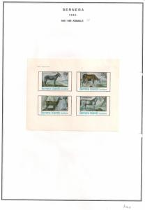SCOTLAND - BERNERA - 1982 - Animals (10) - 4v Imperf Sheet - MLH