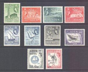 Aden Scott 66/75 - SG77/86, 1964 St Edward's Crown Set MH*