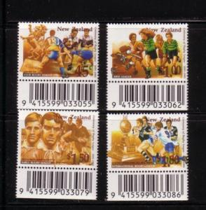 New Zealand Sc 1278-1 1995 Rugby League stamp set mint NH