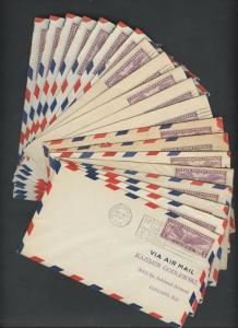 #C12 ON FIRST DAY COVERS FEB 10,1930 WHOLESALE LOT OF 20 CV $280 BU4278