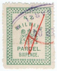 (I.B) New Zealand Railways : Parcel Stamp 6d