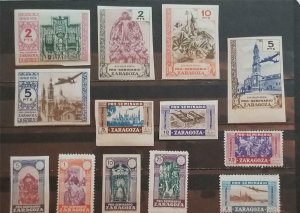 ZARAGOZA Spain Seminario Stamp Lot MH T1008