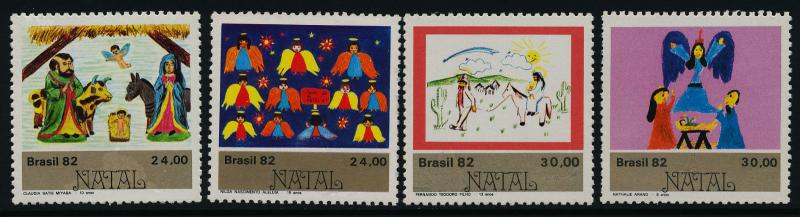 Brazil 1826-9 MNH Christmas, Nativity, Angels