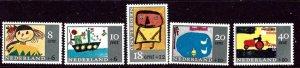Netherlands B402-06 MNH 1965 Designs by Children    (ap3451)