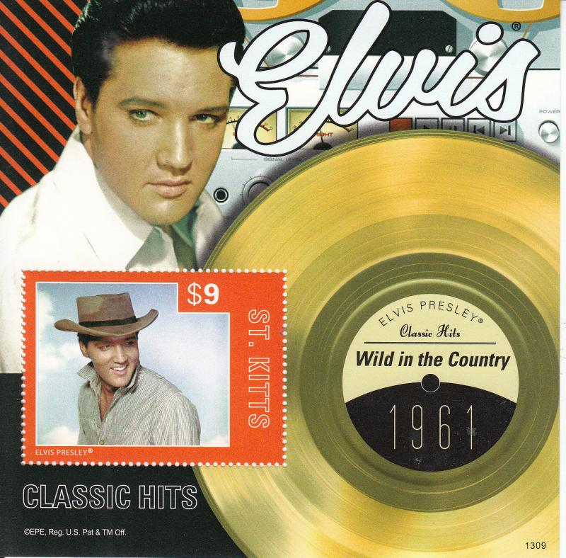 St Kitts 2013 MNH Elvis Presley Classic Hits V 1v S/S 1961 Wild In The Country