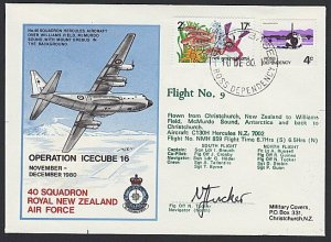 NEW ZEALAND ROSS DEPENDENCY 1980 signed flight cover ex Scott Base..........H731