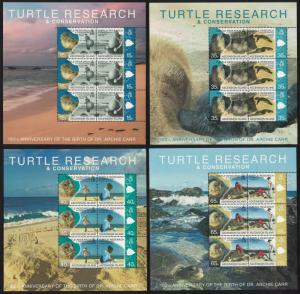 Ascension Turtle Research 4 Sheetlets SG#1048-1055 CV£60+