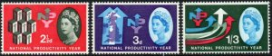 1962 Sg 631p/633p National Productivity Year (Phosphor) Set of 3 Unmounted Mint