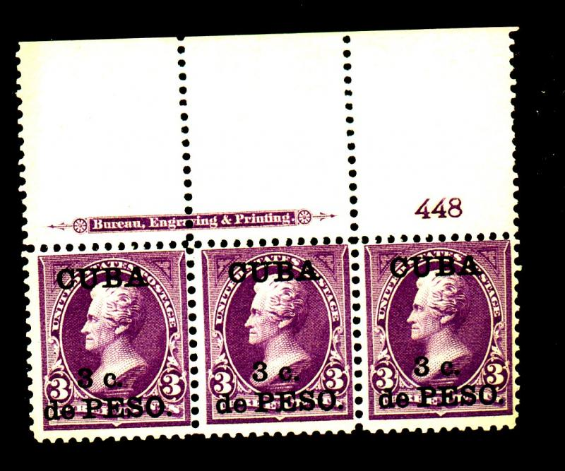 Cuba #224 Mint Plate Strip F-VF OG NH Cat$110