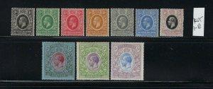 KENYA UGANDA TANGANYIKA SCOTT #1-10 1921 GEORGE V WMK 4 - MINT LH/HINGED