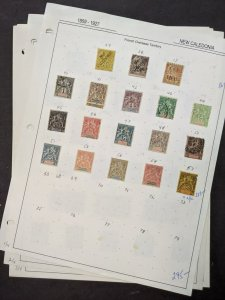 EDW1949SELL : NEW CALEDONIA Mint & Used collection on pages many Better Cat $395