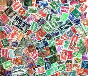 France Stamp Collection - 200 Different Stamps