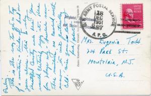 U.S. Scott 806 Prexie/Prexy on APO 227 Picture Post Card