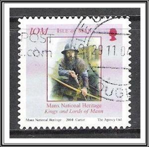 Isle of Man #1055 Manx History S/A Used