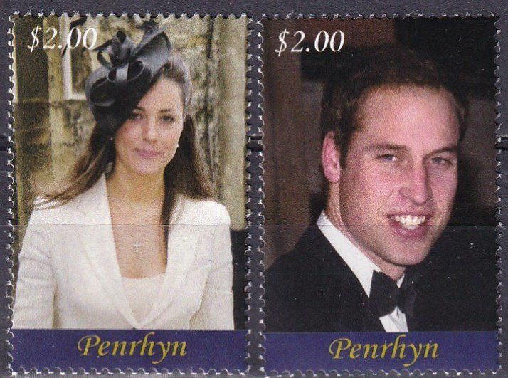 Penrhyn Island #476-7 MNH CV $6.50 (Z4385)