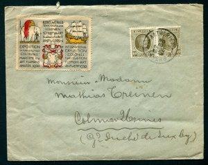 1928 Antwerp, Belgium - Exhibition of 1930 Label with Elephant & Ship