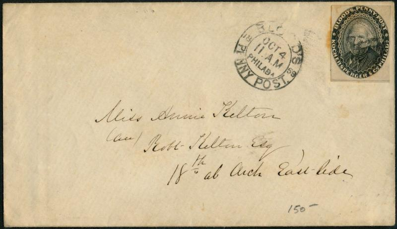 BLOOD'S #15L18 PHILADELPHIA OCT 4,1859 ON COVER BQ546