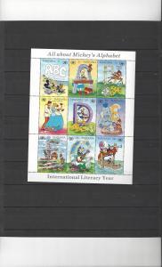 Tanzania 679 MNH Disney International Literacy Year Sheet of 9