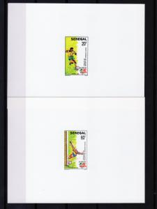 Senegal 1990 Sc#885/888 African Football Cup 4 DELUXE SS MNH VF