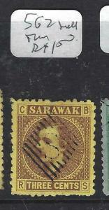 SARAWAK  (P2704B) BROOKE  3C  SG2  SMALL THIN FU