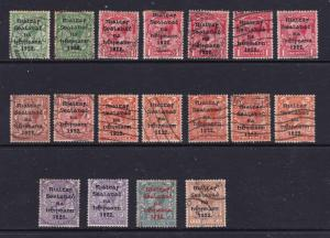 Ireland a small used lot of unsorted 1922 overprints