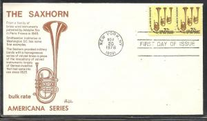 US #1614 Saxhorn Bazaar cachet U/A