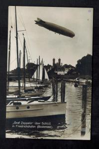 1929 Breslau Germany Graf Zeppelin in Flight RPPC Postcard Cover to Bremen LZ127