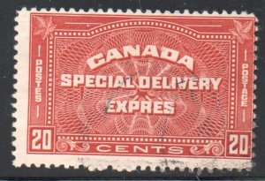 Canada Sc E5 1932 20 c Special Delivery stamp used